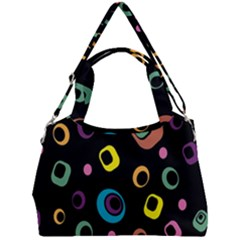 Abstract Background Retro Double Compartment Shoulder Bag
