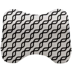 Diagonal Stripe Pattern Head Support Cushion