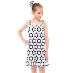 Pattern Star Repeating Black White Kids  Overall Dress by Sapixe