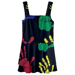 Handprints Hand Print Colourful Kids  Layered Skirt Swimsuit by Sapixe