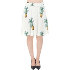 Pineapples Pattern Velvet High Waist Skirt by goljakoff