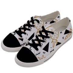 Black & Gold Pineapples Men s Low Top Canvas Sneakers by goljakoff