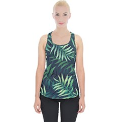 Night Tropical Leaves Piece Up Tank Top by goljakoff