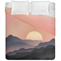 Sunset Sky Sun Graphics Duvet Cover Double Side (california King Size) by HermanTelo