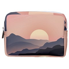 Sunset Sky Sun Graphics Make Up Pouch (medium)