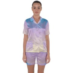 Sunrise Sunset Colours Background Satin Short Sleeve Pyjamas Set