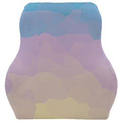 Sunrise Sunset Colours Background Car Seat Velour Cushion