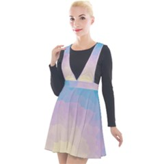 Sunrise Sunset Colours Background Plunge Pinafore Velour Dress