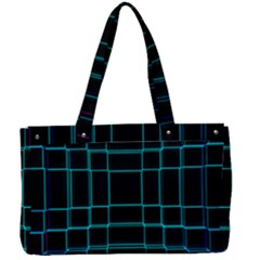 Texture Lines Background Canvas Work Bag