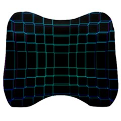 Texture Lines Background Velour Head Support Cushion
