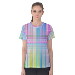 Texture Abstract Squqre Chevron Women s Cotton Tee
