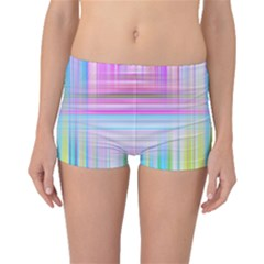 Texture Abstract Squqre Chevron Boyleg Bikini Bottoms