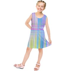Texture Abstract Squqre Chevron Kids  Tunic Dress by HermanTelo