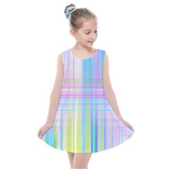 Texture Abstract Squqre Chevron Kids  Summer Dress by HermanTelo