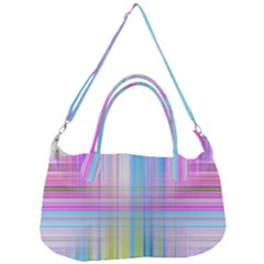 Texture Abstract Squqre Chevron Removal Strap Handbag by HermanTelo