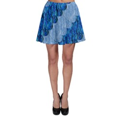 Texture Surface Blue Shapes Skater Skirt by HermanTelo