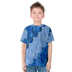 Texture Surface Blue Shapes Kids  Cotton Tee