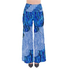 Texture Surface Blue Shapes So Vintage Palazzo Pants by HermanTelo