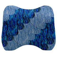 Texture Surface Blue Shapes Velour Head Support Cushion