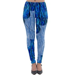 Texture Surface Blue Shapes Lightweight Velour Leggings