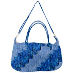 Texture Surface Blue Shapes Removal Strap Handbag