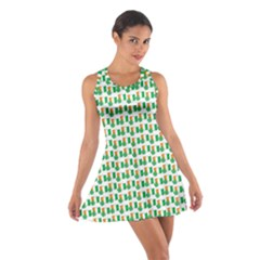 St Patricks Day Background Ireland Cotton Racerback Dress