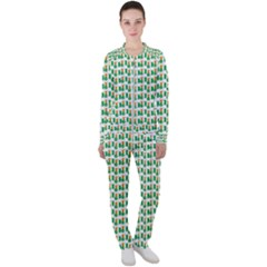 St-patricks Day Background Ireland Casual Jacket And Pants Set