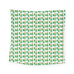 St Patricks Day Background Ireland Square Tapestry (small)