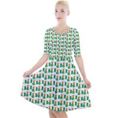 St-patricks Day Background Ireland Quarter Sleeve A-line Dress