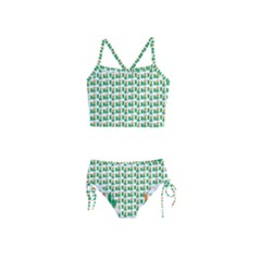 St Patricks Day Background Ireland Girls  Tankini Swimsuit