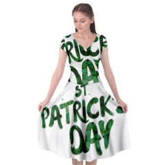 St Patrick s Day Cap Sleeve Wrap Front Dress