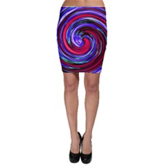 Swirl Vortex Motion Bodycon Skirt