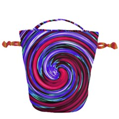 Swirl Vortex Motion Drawstring Bucket Bag