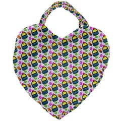 Sweet Dessert Food Cake Pattern Giant Heart Shaped Tote