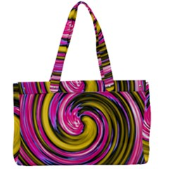Swirl Vortex Motion Pink Yellow Canvas Work Bag