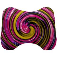 Swirl Vortex Motion Pink Yellow Head Support Cushion