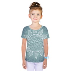 Sun Abstract Summer Kids  One Piece Tee by HermanTelo