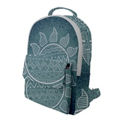 Sun Abstract Summer Flap Pocket Backpack (large) by HermanTelo