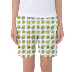 St Patricks Day Background Symbols Women s Basketball Shorts