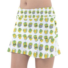 St Patricks Day Background Symbols Tennis Skirt
