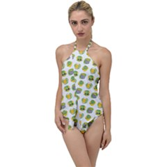 St Patricks Day Background Symbols Go With The Flow One Piece Swimsuit