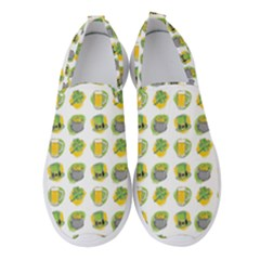 St Patricks Day Background Symbols Women s Slip On Sneakers by HermanTelo