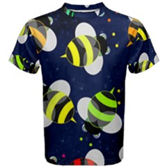 Textured Bee Men s Cotton Tee
