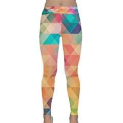 Texture Triangle Classic Yoga Leggings by HermanTelo
