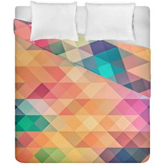 Texture Triangle Duvet Cover Double Side (california King Size) by HermanTelo