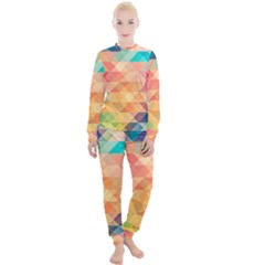 Texture Triangle Women s Lounge Set