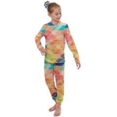 Texture Triangle Kids  Long Sleeve Set