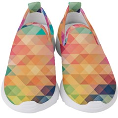 Texture Triangle Kids  Slip On Sneakers by HermanTelo
