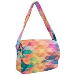 Texture Triangle Courier Bag