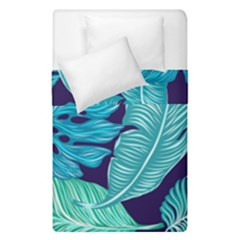 Tropical Greens Leaves Banana Duvet Cover Double Side (single Size) by HermanTelo